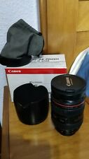 Canon EF 24-70mm F2.8L USM Zoom L Series Lens With Both Caps, Hood & Bag BOX