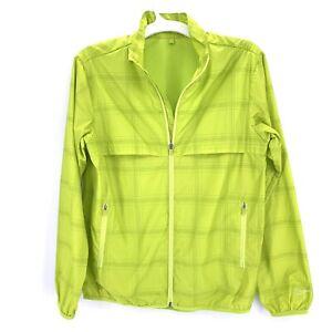 Nike Golf Junior Unisex Windshirt 483725 Lime Green Full Zip Jacket Vented XL