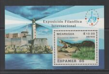 Thematic Stamps Animals - NICARAGUA 1985 ESPAMER(ANIMALS) MS mint