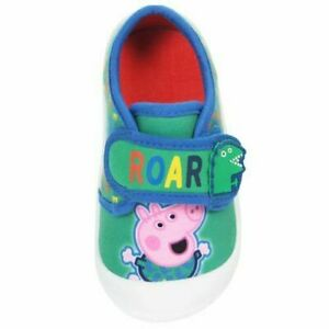 Boys George Pig Pumps Peppa Casual Canvas Bumper Trainers Shoes Kids UK Size 4-9