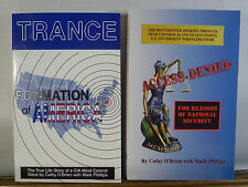 2 Book Set TRANCE Formation Of America & Access Denied Cathy OBrien Mark Philips