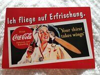 """Werbepostkarte """" Eine nostalgische Erinnerung von Coca-Cola """"/deutsch/ ca.2000"""