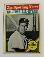 1976 Ted Williams # 347 Boston Red Sox Topps Baseball Card HOF