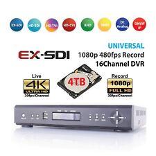 HD-SDI / EX-SDI, 16CH DVR 1080P Real-time Live/Record, 4K HDMI, POS, + 4TB HDD