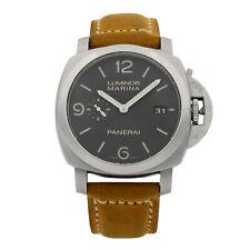 Panerai Luminor 1950 Marina Steel Black Dial Automatic Mens Watch PAM00312
