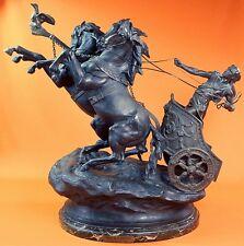 Antique French Char de la Victoire Domenech et Pfeffer Large Chariot Figurine