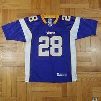 856aed6163d58 Minnesota Vikings ADRIAN PETERSON Jersey  28 NFL Reebok Equipment Sewn Sz 50