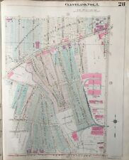 ORIGINAL 1921 SOUTH COLLINWOOD, CLEVELAND OHIO, SOUTH HIGH SCHOOL ATLAS PLAT MAP