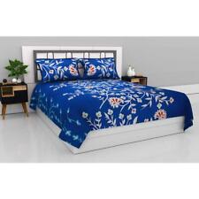 Indien Microfiber Queen Size Double Bedsheet with 2 Pillow Covers - Azure Blooms
