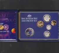 2000 Australia Proof Coin Set in Folder with outer Box & Certificate
