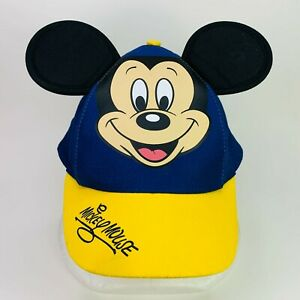 DISNEY Parks Mickey Mouse with 3D Ears Adjustable SNAPBACK Youth Hat Ball Cap