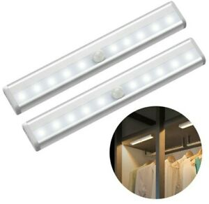Light Night 10 LED Pir Motion Sensor Battery With Strip Magnetic