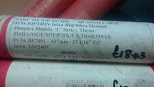 Dimplex Tipo di vetro di silice ad infrarossi elemento fuoco BF7401/BF7401 666 W