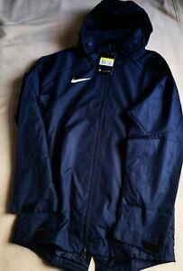 Neu Herren Nike Regenjacke dunkelblau Größe S