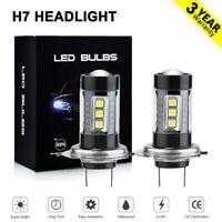 H7 LED Headlight 160W Car Fog lights Bulbs Kit 6000k HID Decoder Fog Light White