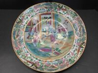 Antique Chinese Export Famille Rose Porcelain Plate 18th / 19th C Qing Dynasty