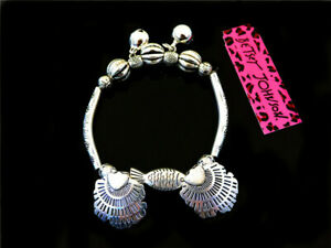 Betsey johnson sexy fashion Silver-plated Beautiful shell charm Bells Bracelets