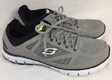 Skechers Relaxed Fit #51444 Skech Flex Life Force Sport Shoe Gray/Black Sz 14