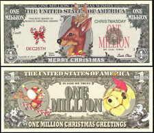 Santa's Reindeer Christmas Million Dollar Bill Fake Funny Money Novelty Note