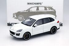 Porsche Cayenne Turbo S AÑO fabricación 2014 Blanco 1:18 Minichamps