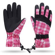 Pink Girls Kids Children Winter Snow Ski Skiing Snowboard Warm Waterproof Gloves