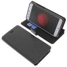 étui pour Zte Nubia Z11 Mini Style Livre Etui Housse téléphone mobile Noir