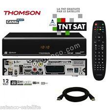 THOMSON Décodeur HD + Carte TNTSAT Astra TNT HDMI Récepteur satellite 12V 220V