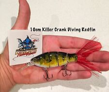 """Killer Crank"" 10cm Diving Redfin Swimbait Fishing Lure  25g Murray Cod"