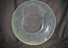 "Old Vintage Clear Glass 7-1/4"" Salad Plate by Arcoroc Diamond Swirl Pattern USA"