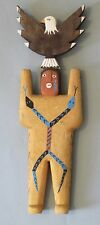 Navajo Folk Artist Harold Willeto, Carved Painted Male Yei Figure, 1994