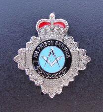 HM HMP Prison Service MASONIC SQUARE & COMPASS tie tac pin badge FREEMASONRY ,,,