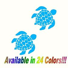 """SET OF 2 5"""" Sea Turtle Decal Stickers Car Truck Bumper Sticker laptop Wall ss"""