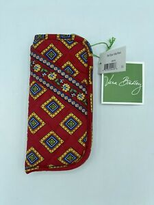 NEW - VERA BRADLEY QUILTED VINTAGE VILLA RED DOUBLE POCKET EYEGLASS CASE NWT