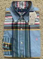 NWT Polo Ralph Lauren Mens Oxford Shirts Lattice Button Down Shirts Long Sleeve