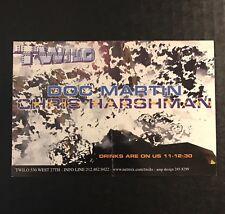 Rare Vintage 1990s NYC Club Flyer: DOC MARTIN & CHRIS HARSHMAN @ TWILO NYC