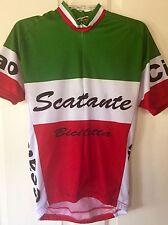 World Jerseys Scattante Italia Short Sleeve Cycling Bike Jersey Mens Large