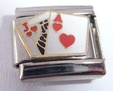 PLAYING CARDS Italian Charm - ACE & JACK 21 Blackjack Poker 9mm Classic Size E21