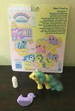 VTG MY LITTLE PONY Newborn Pony BABY SQUIRMY with Back Card Duck Comb & Bottle