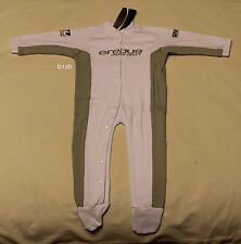Erebus Motorsport V8 Infant Boys White Onepiece Romper Grow Suit Size 1 New