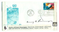 First Day Cover Signed by - Henry Alfred Kissigner an  American Govt. official