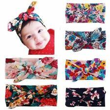 6 Pack Boho Bohemian Floral Knotted Hair Bow Bunny Ears Headband Turban Headwrap