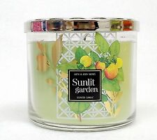 1 Bath & Body Works SUNLIT GARDEN Large 3-Wick Filled Candle