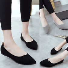 Women's Flats Lady Loafers Single Shoes Leather Casual Ballet Slip-On Boat Shoes