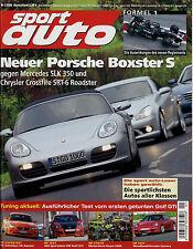 sport auto 1/05 2005 BMW M3 911 Carrera Fiesta ST 150 SLK 55 AMG Boxster S SLK 3
