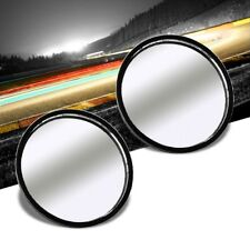 2x Circle Fixed Base Universal Stick On Auto Car View Driving Blind Spot Mirror