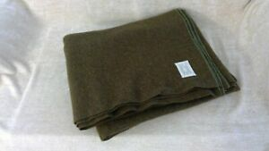"""Original WWII US Army Military Issue Wool Blanket - 66""""x80"""" - Am. Woolen Co -"""