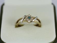 London Blue Topaz Ring 9ct Gold Ladies Stunning Size O 375 2.4g Eo9