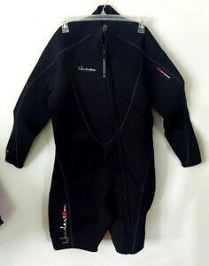 Henderson Divewear Mens Wetsuit Size 3X 5MM Thermoprene Black Front Zip
