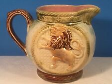 Antique French Majolica Lion Pitcher c.1880's