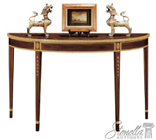 L45185: HENKEL HARRIS model #5724 Inlaid Mahogany Federal Console Table ~ New